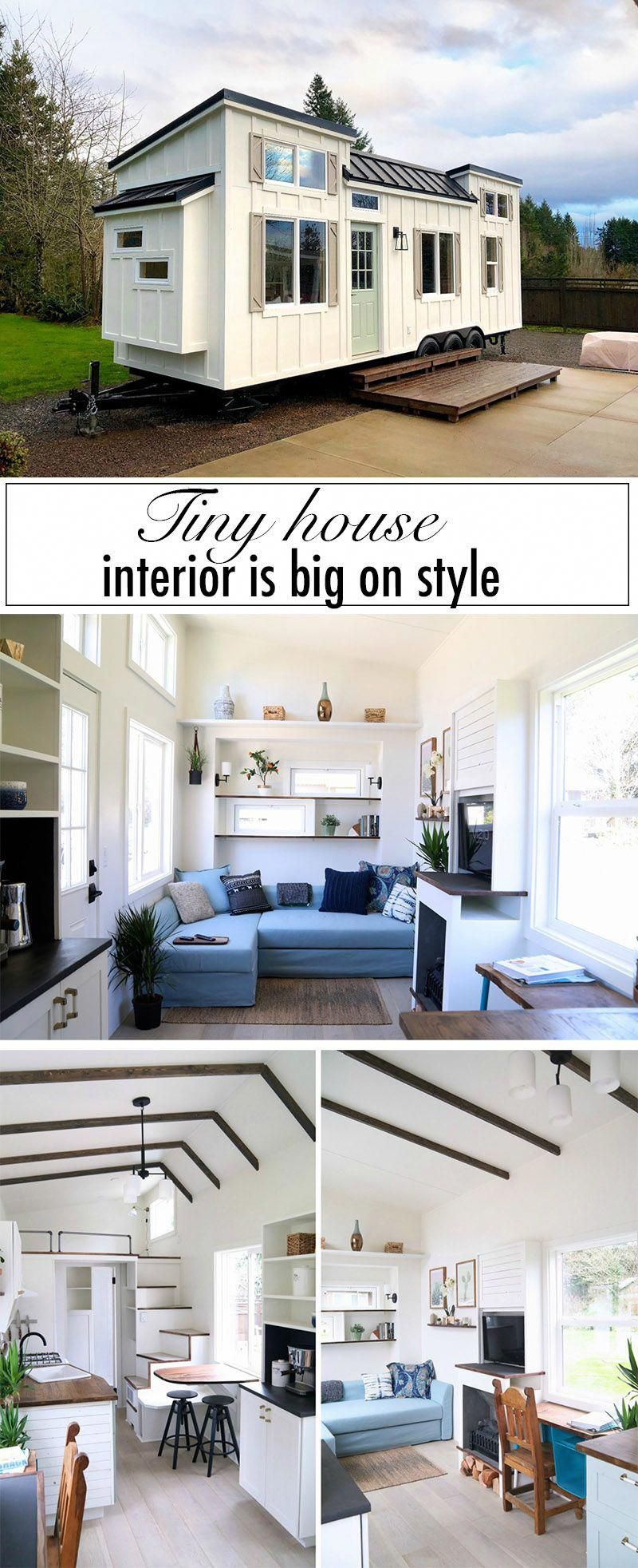 This custom-built tiny house is big on interior design... #tinyhouses