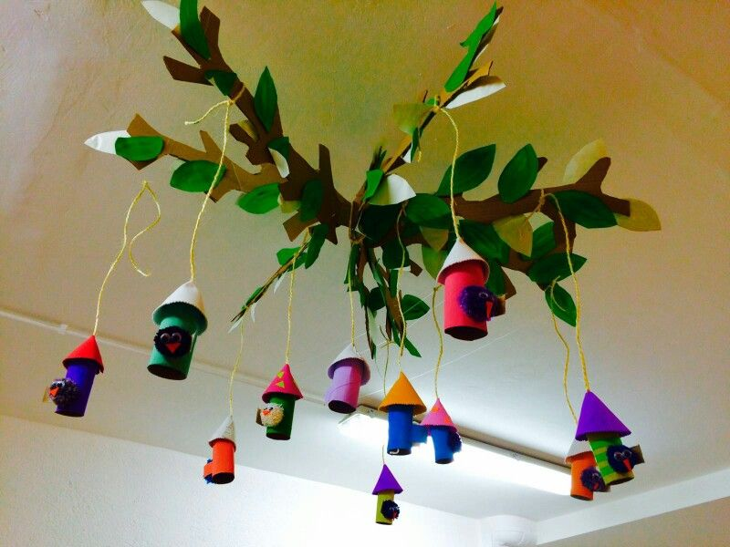 diy decoracion primavera aula infantil idea original