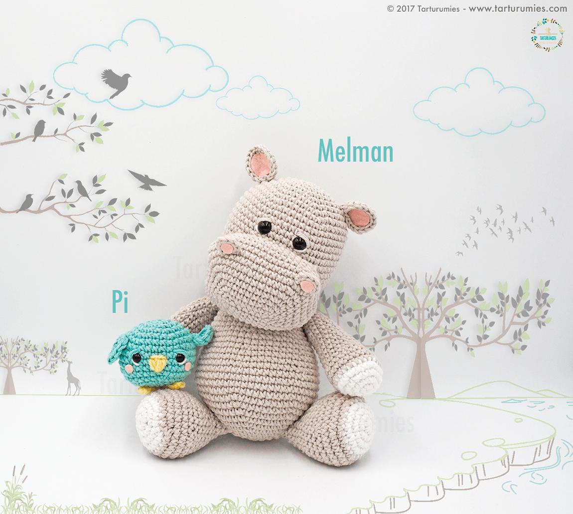 Kijk wat ik gevonden heb op Freubelweb.nl: een gratis haakpatroon van Tarturumi om dit schattige nijlpaard Melman en zijn vriendje Pi het vogeltje te maken https://www.freubelweb.nl/freubel-zelf/gratis-haakpatroon-nijlpaard-2/