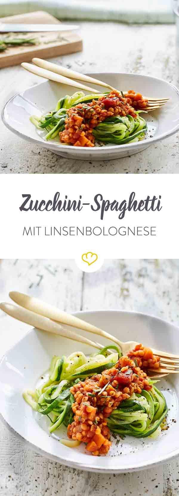 Photo of Zucchini spaghetti with vegan lentil bolognese