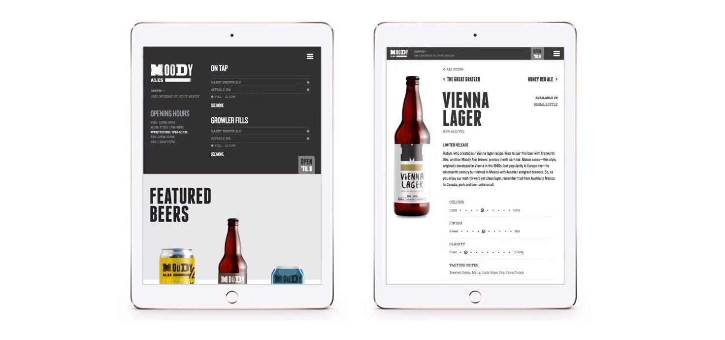 Moody Ales #graphicdesign #graphics #design #ale #beer #brand #brandidentity #print #vancouver #craft #web #webdesign #website #digital #interactive