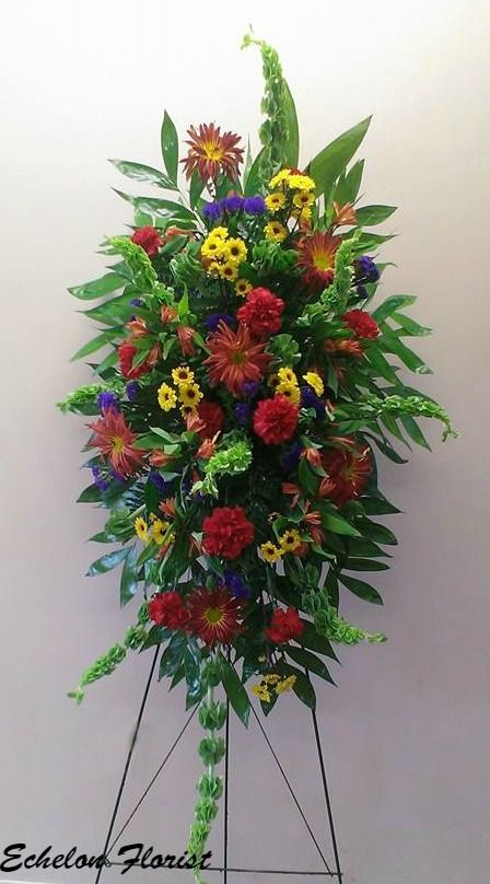 Red yellow and blue sympathy arrangement by echelon florist our red yellow and blue sympathy arrangement by echelon florist yellow flower arrangementssympathy flowers mightylinksfo
