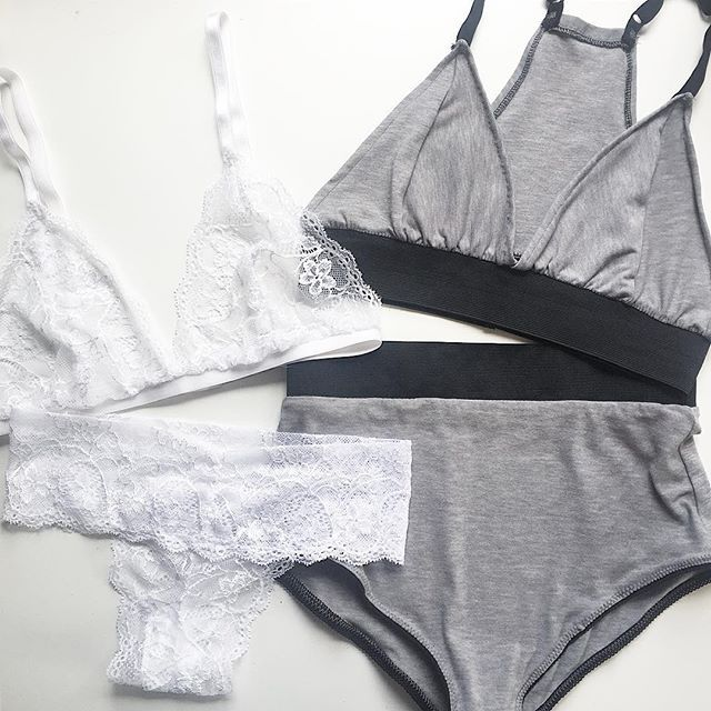 There is a set to suit anybody  From our White Classic Bralet & Thong to our Grey Luxe Bralet & High waisted Pants ⚡️ Shop our full range of products on the website, link in bio!. #ellicelydia #madetomeasure #instalingerie #handmadelingerie #bodyconfident #instalike  #photooftheday #flatlay