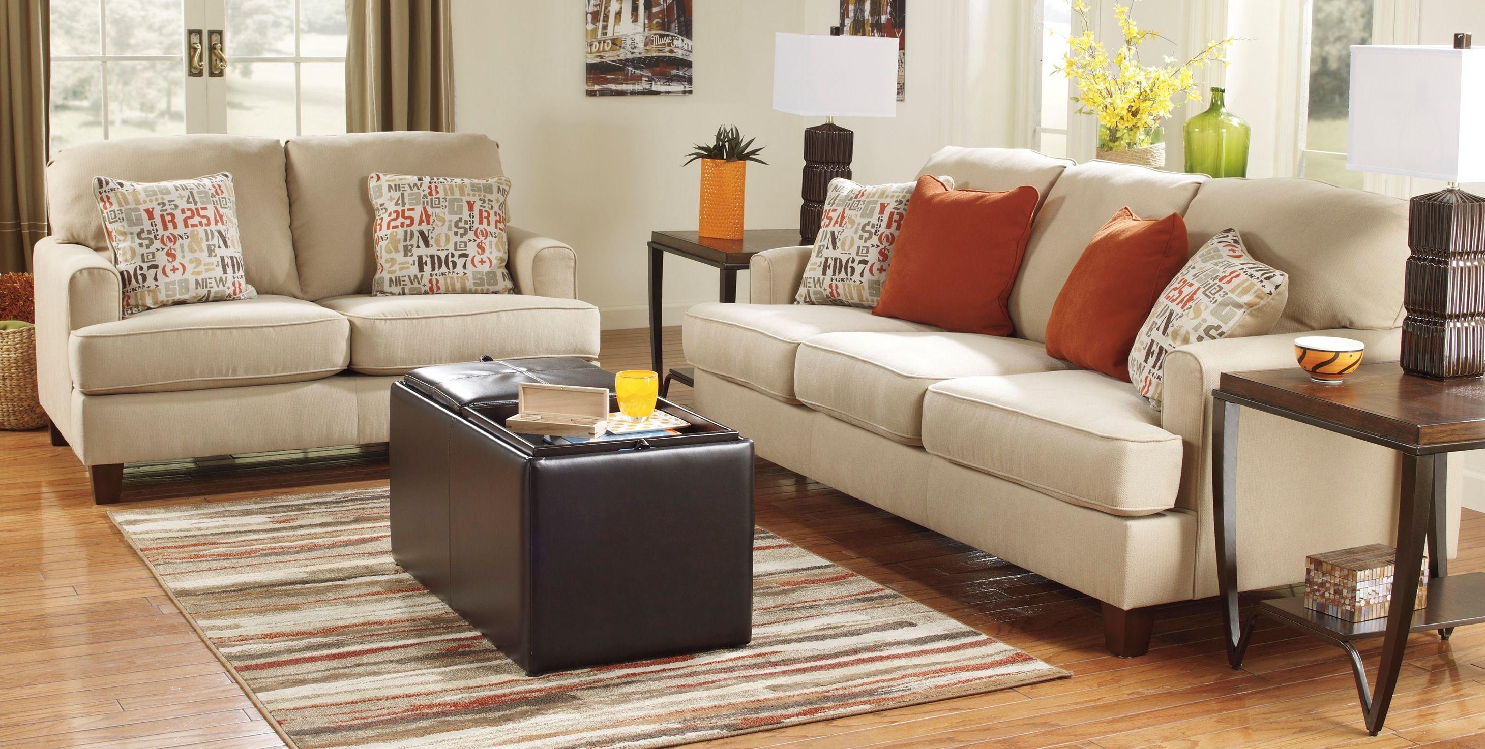 Living Room Decor On A Budget Deshan Sofa By Ashley Furniture At Kensington Furn Living Room Decor On A Budget Living Room Sets Furniture Stylish Dining Room