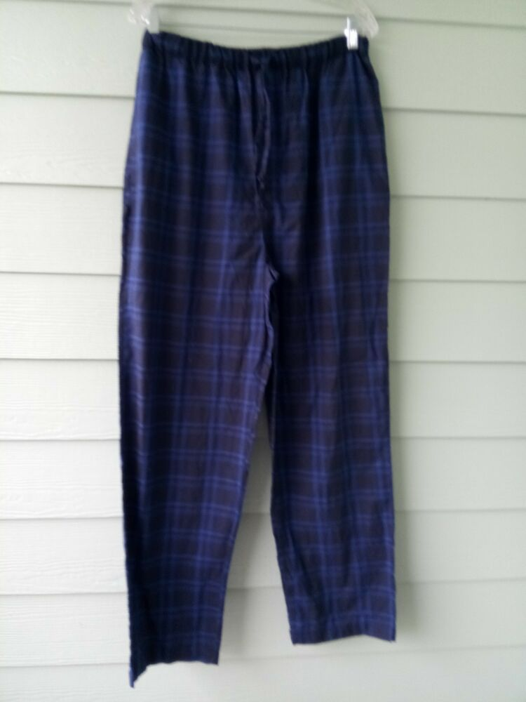 Sizes M /& L. Men/'s Soft Fleece Drawstring Blue /& Black Star Print Pyjama Pants