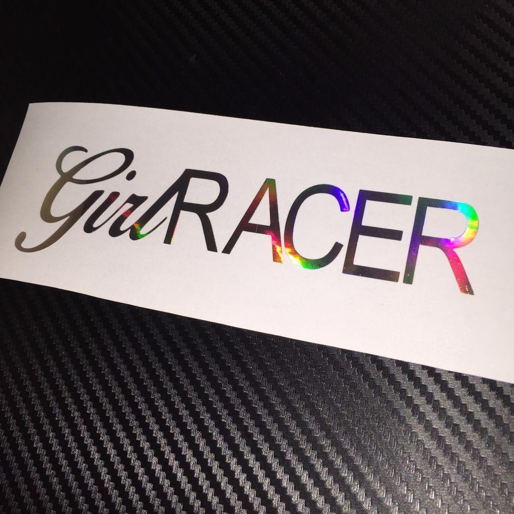CHROME OIL SLICK Girl Racer Car Sticker Decal JDM Vdub Drift EDM - Car sticker decal for girls