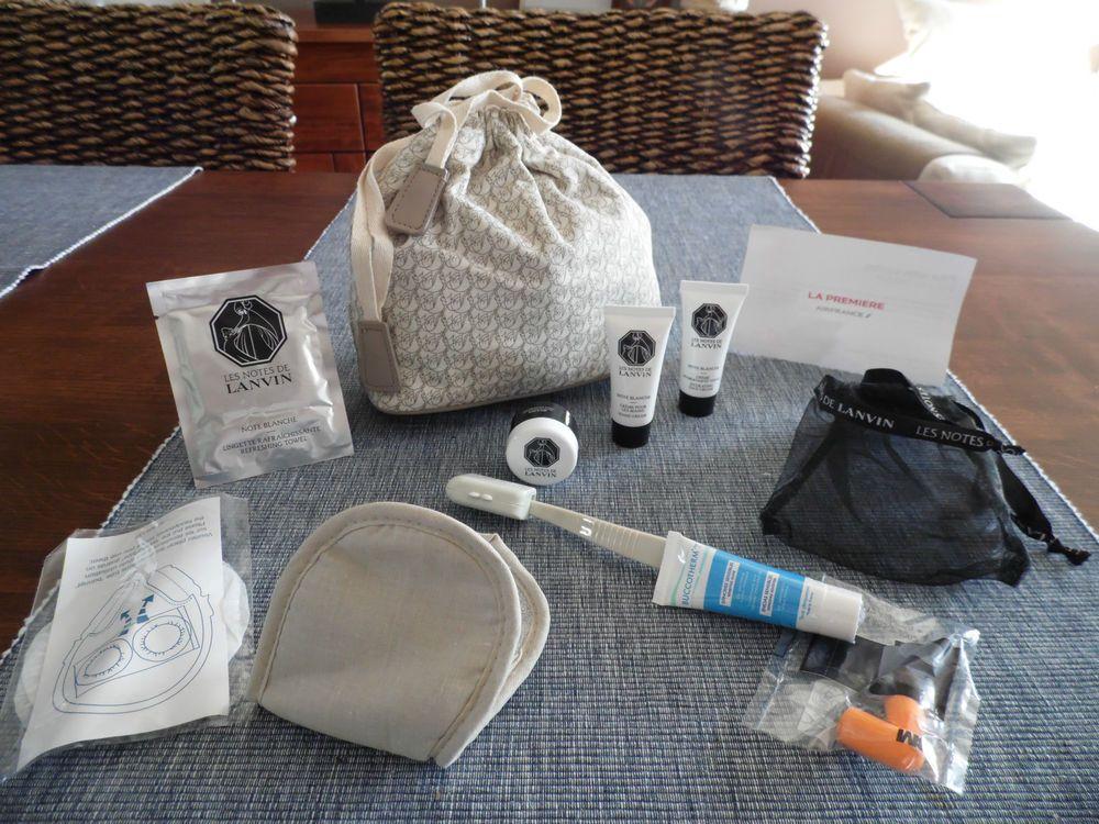 Air france first class lanvin amenity kit bag set washbag
