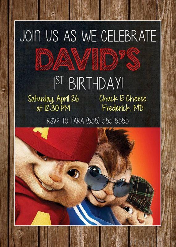 Alvin The Chipmunks Birthday Invitation By MsThirdGrade 1200