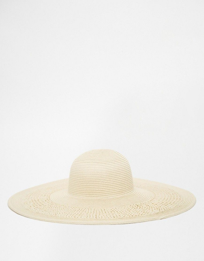 Image 4 of ASOS Oversized Straw Hat With Crochet Insert