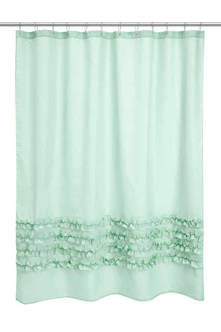 Shower curtain shower curtain in waterrepellent polyester with