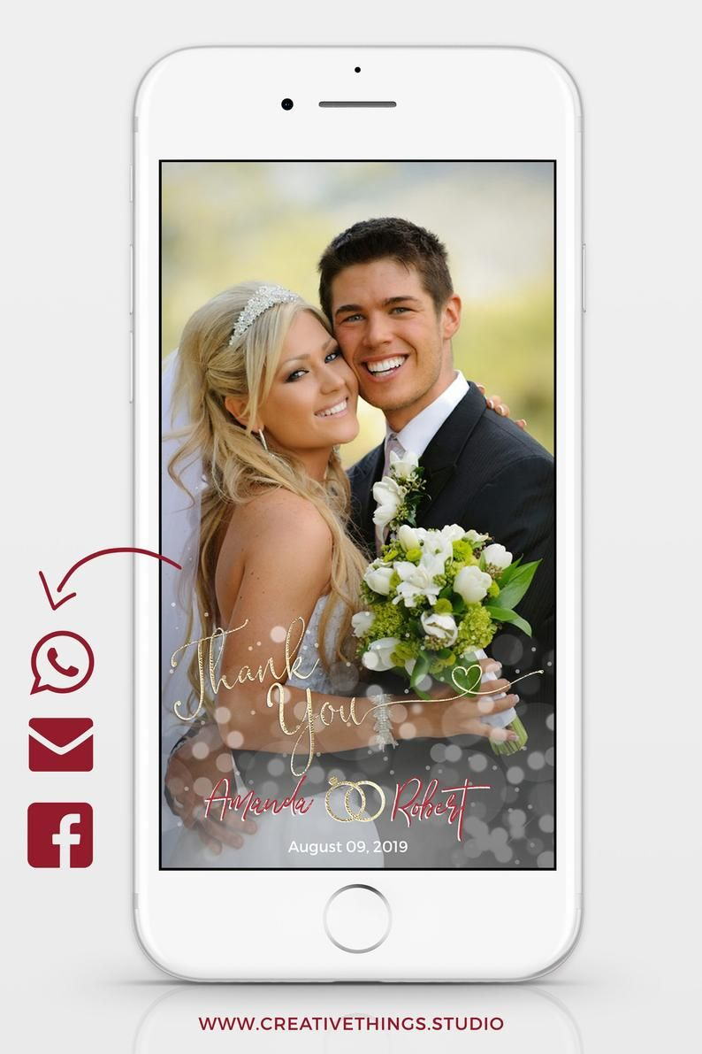 Electronic Wedding Thank You Notes Edit With Corjl Electronic