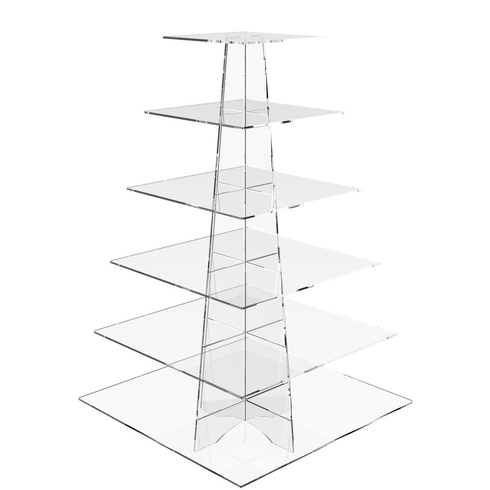 Details About Acrylic Cupcake Stand 6 Tier Cup Cake Display