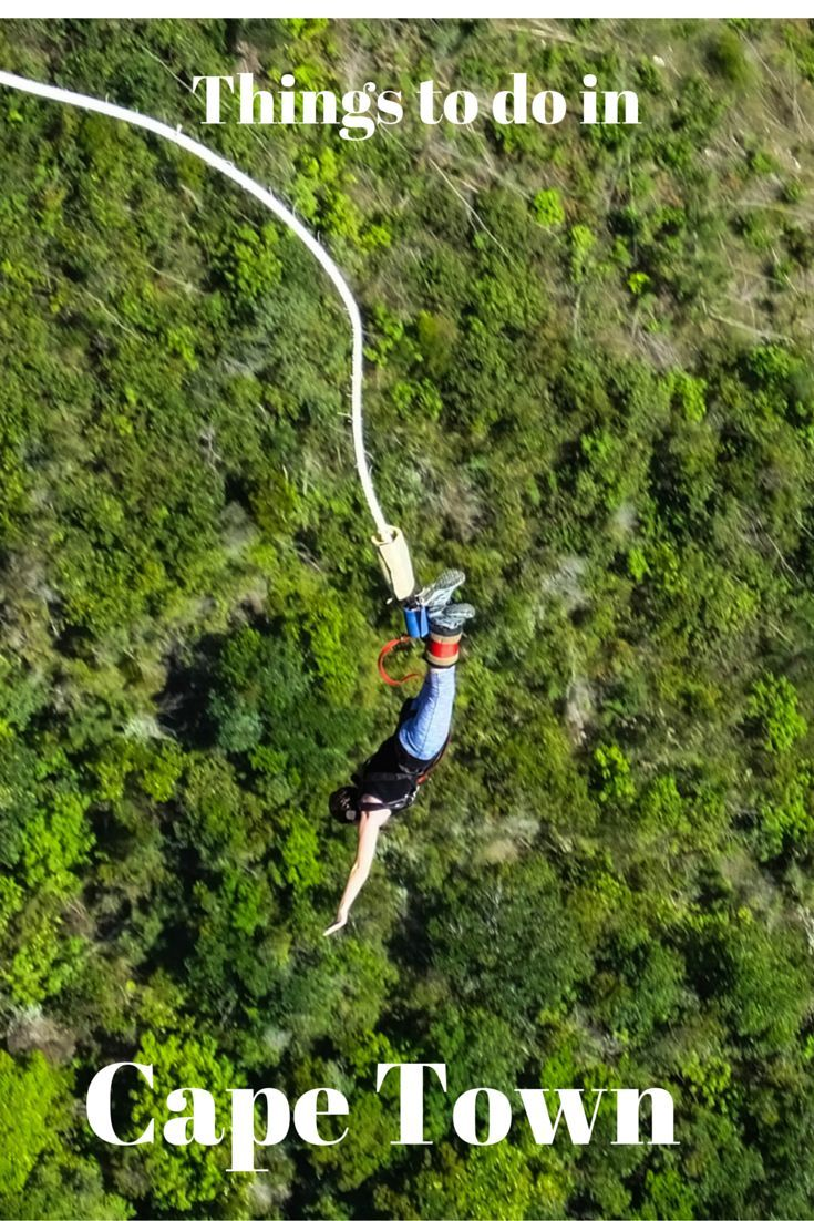 Looking for something to do on your road trip in Cape Town, South Africa? Try Bungee Jumping off of the world's tallest bungee bridge.:
