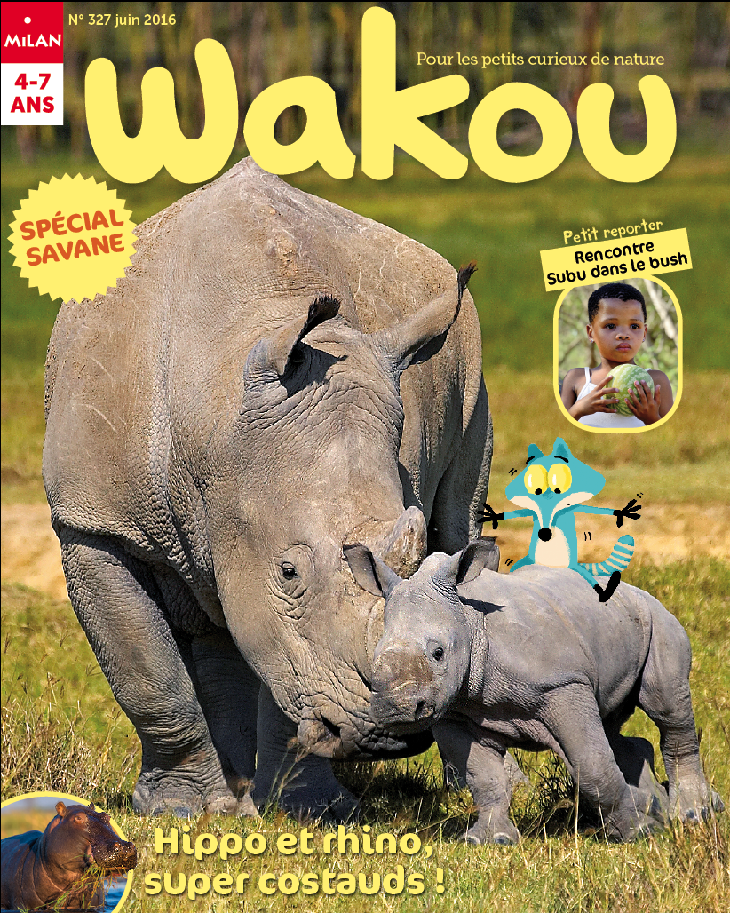 4a7d55619663 Wakou juin 2016 © G. Lacz Age Fotostock.   Hippopotame  rhinocéros  savane   Afrique