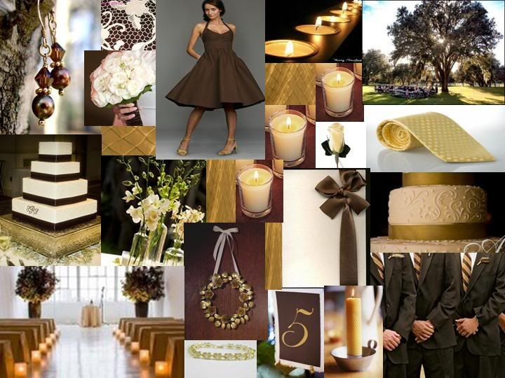 chocolate brown & gold | Wedding Color Schemes | Pinterest ...