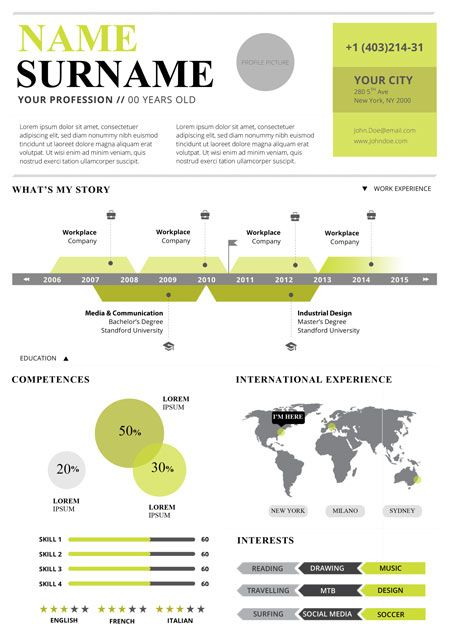 Image Result For Infographic Cv Word Templates | Infographic U0026 Visual  Resumes | Pinterest | Infographics And Infographic