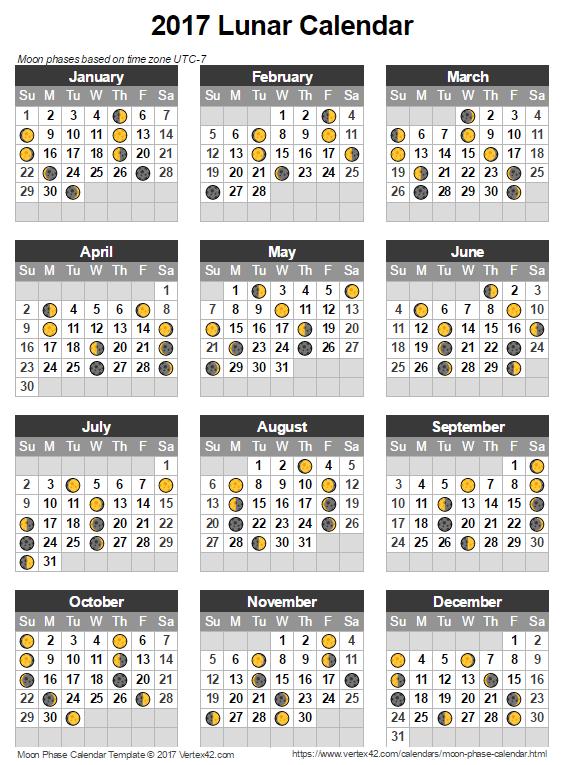 Download The Lunar Calendar Template From Vertex42 Techie