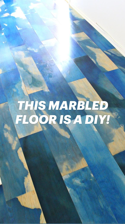 THIS MARBLED FLOOR IS A DIY! Easy Plywood Floor Tutorial