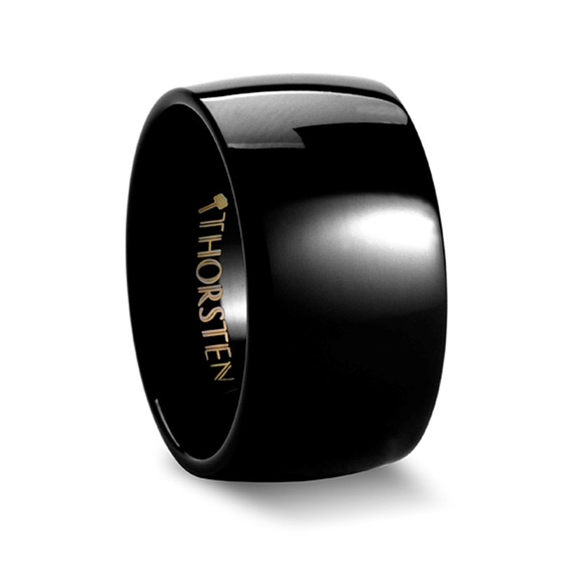 Twilight Domed Black Tungsten Ring 12mm With Images Black Tungsten Wedding Ring Black Tungsten Rings Tungsten Carbide Wedding Bands