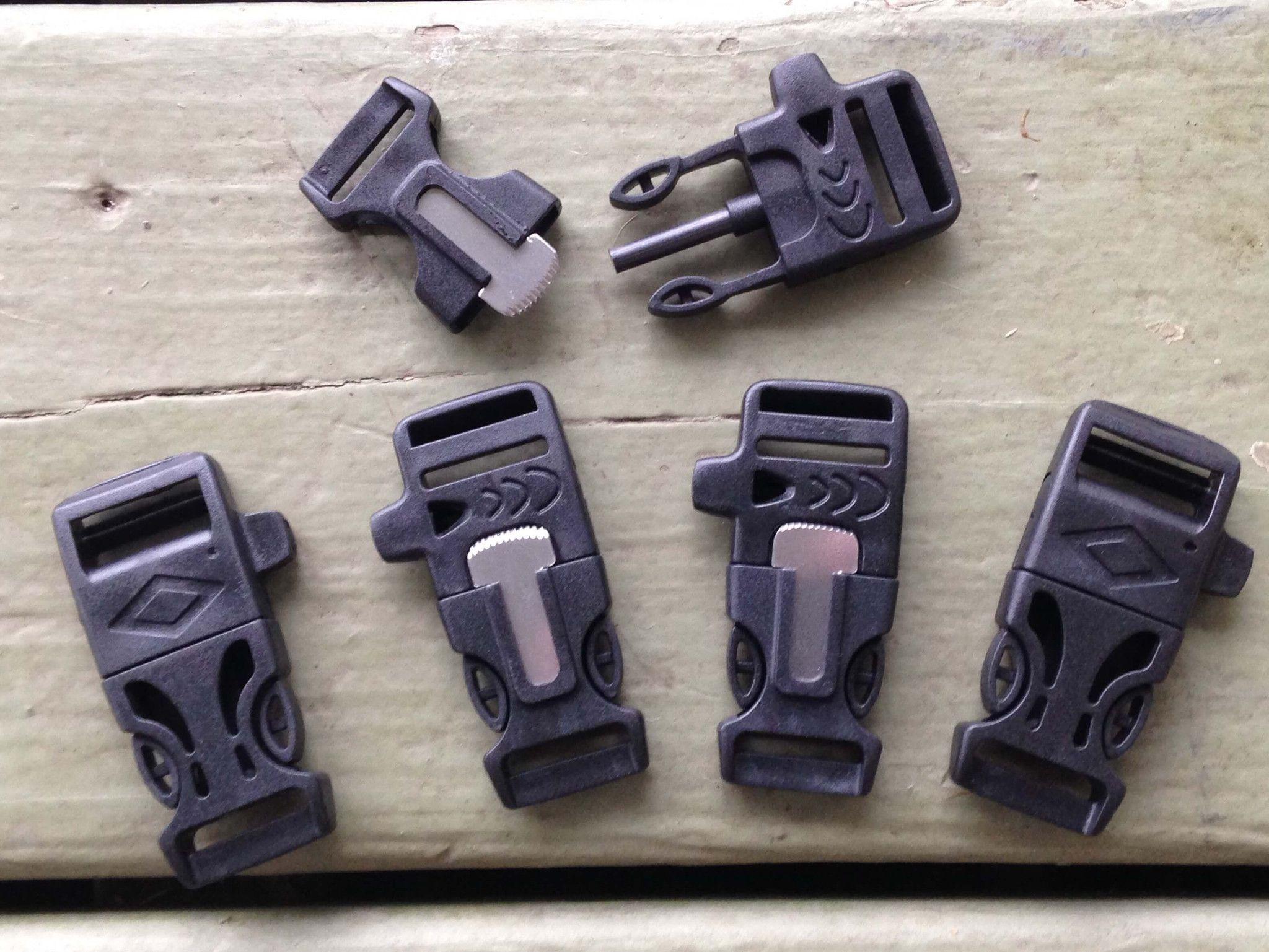 3 4 Flint Firesteel Whistle Paracord Buckles For Bracelets 1 Stockstill Outdoor Supply