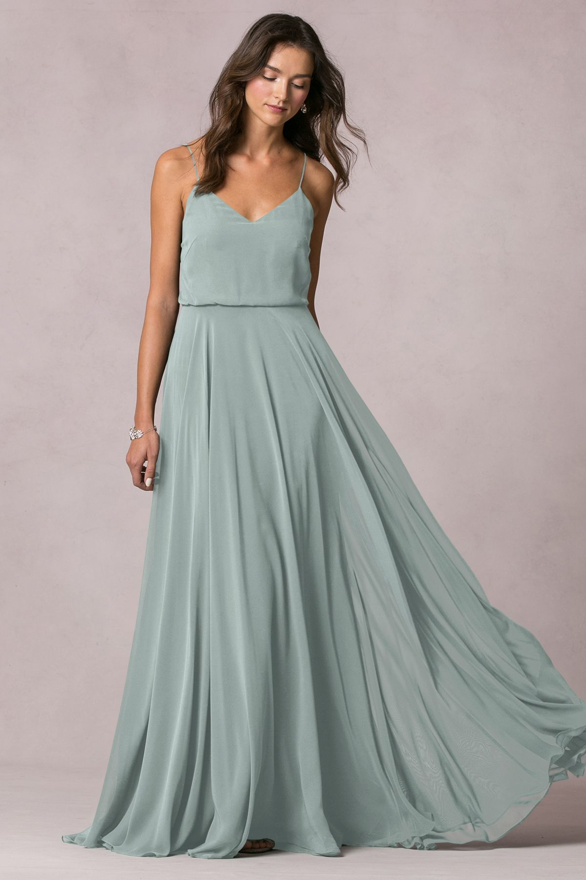 f5d97ecf6ea Luxe Chiffon - View All Dresses - Bridal Party. Jenny Yoo - Inesse - Morning  Mist