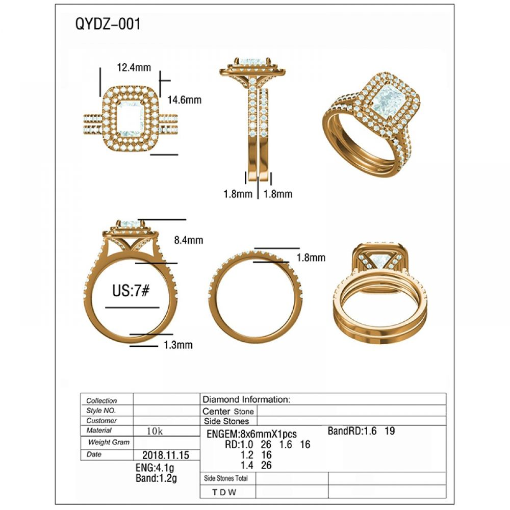 Qyi Customized Rings Sona Stone Is Very Shiny Engagement Rings Two Rows 10k Gold Rings Women S Je In 2020 Womens Jewelry Rings Shiny Engagement Rings Custom Rings