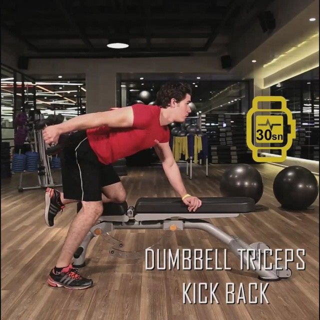 6 haftada fit programının 2. haftasının onuncu hareketi: DUMBBELL TRICEPS KICK BACK