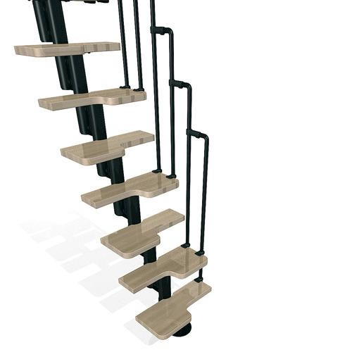 Karina Black Stair Kit 1 Ft 10 1 2 Wide At Menards With Images Modular Staircase Staircase Kits Stair Kits