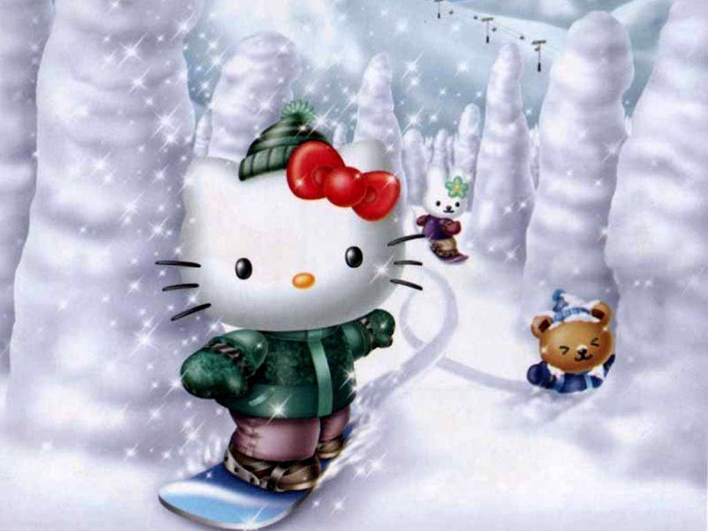 cute hello kitty christmas | hello kitty christmas backgrounds 1305