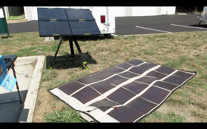 Goal Zero Vs Powerfilm 120 Watt Portable Panel Comparison Goal Zero Solar Power System Solar Panels