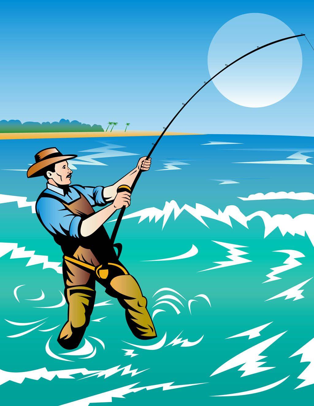 clip art fishing - Google Search | Illustration, It cast ...