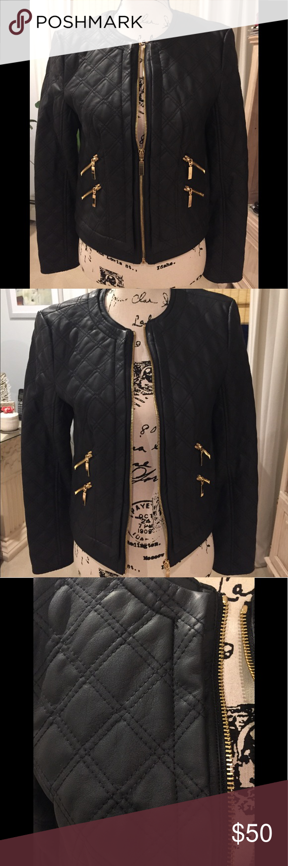 NWOT Vegan leather jacket Vegan leather jacket, Jackets