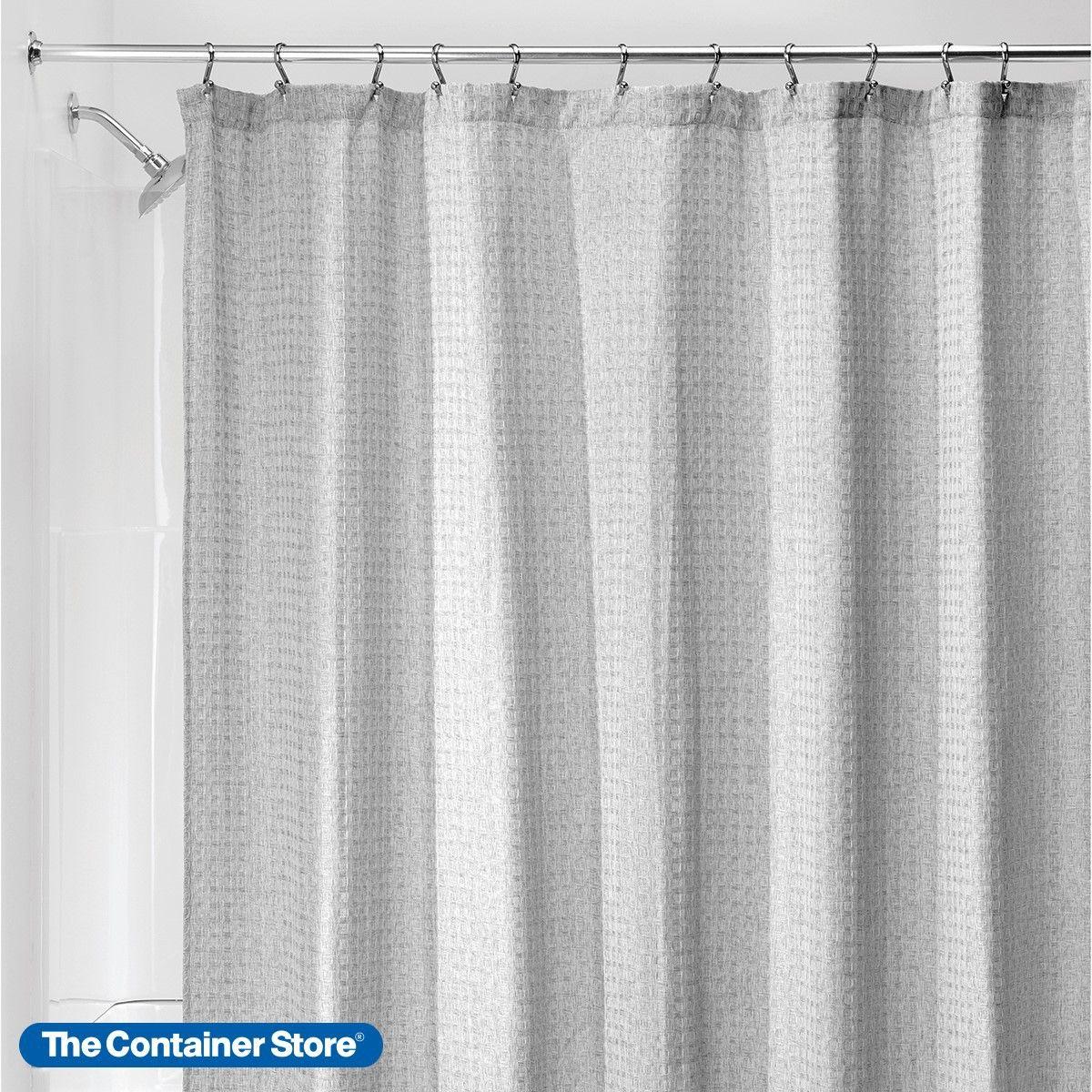 Waffle Weave Heather Grey Shower Curtain Gray Shower Curtains Shower Curtain Curtains