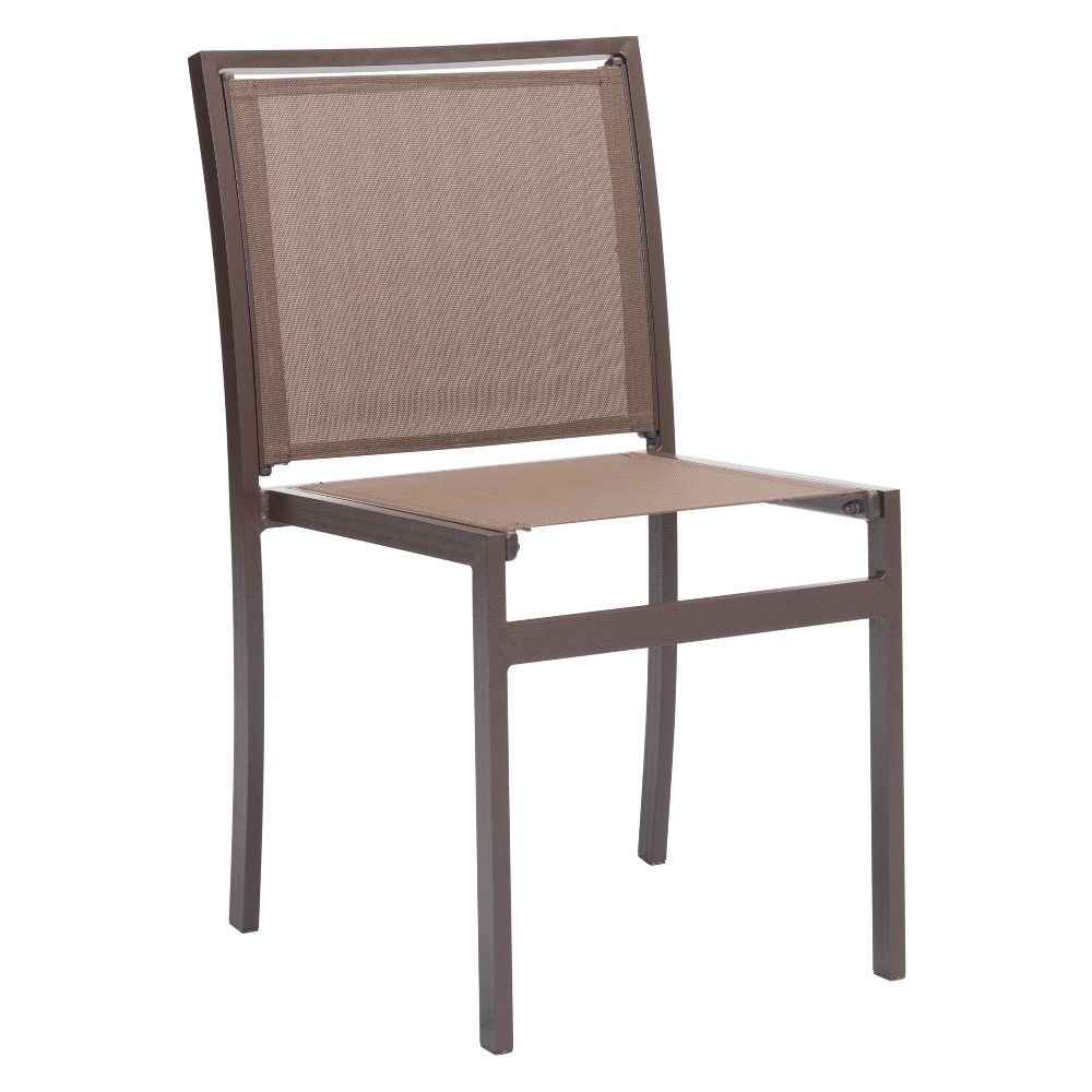 2pk Modern Stackable Dining Chair Brown Zm Home Patio Dining