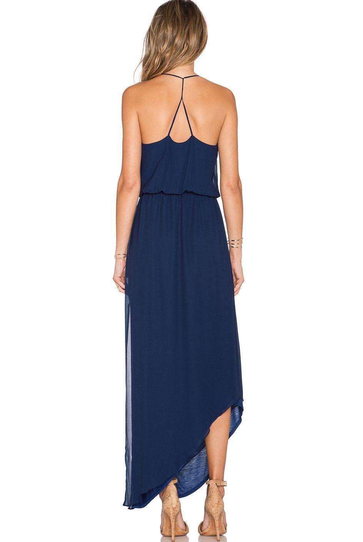 510374340c Navy Spaghetti Strap Asymmetrical Split Dress in 2019 | Bridesmaid ...