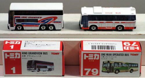Dte 2 Japan Tomy Tomica Pocket Cars Bus 1 Hino Grandview 79 Mitsubishi Fuso Bus Hino Tomy