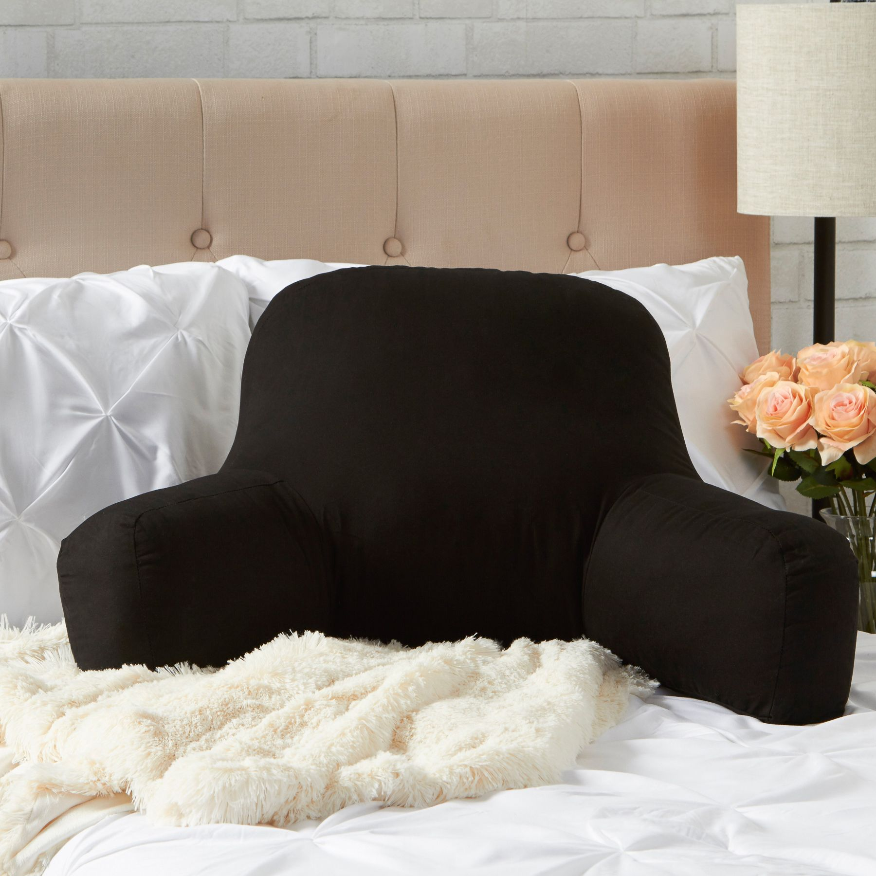 Bed rest pillow black - Greendale Home Fashions Bed Rest Pillow Cotton Duck Black
