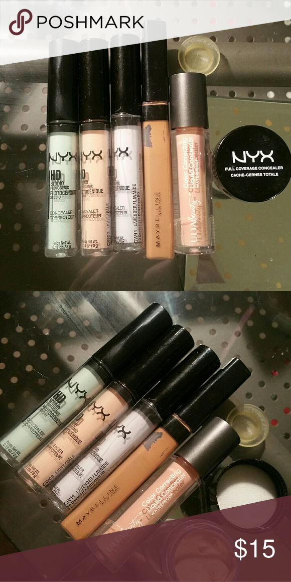 Final Price ♡ Concealers Bundle tried only a few times