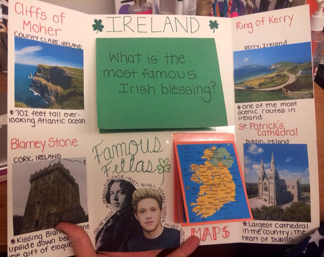 Ireland Lapbook Part 2 Contains Maps Absolute Location
