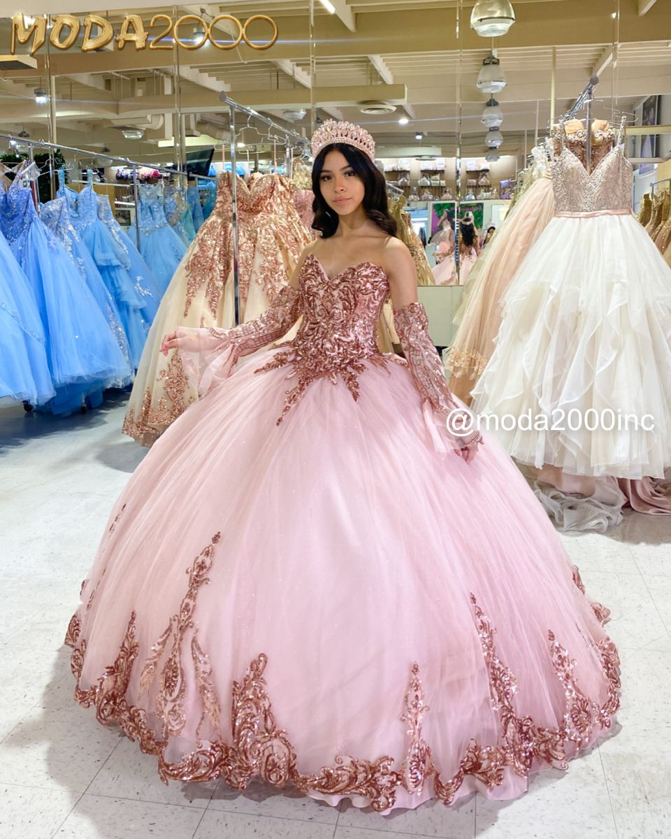 Glittery Rose Gold Pink Off The Shoulder Bell Sleeved Quince Dress Quinceanera Dresses Pink Quince Dresses 15 Dresses Quinceanera [ 1200 x 960 Pixel ]
