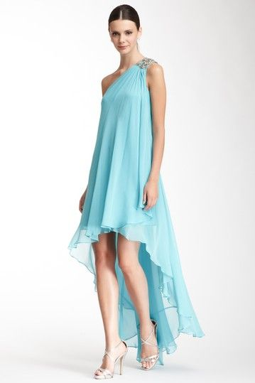 Notte By Marchesa Silk One Encrusted Shoulder Gown by Notte By Marchesa on @HauteLook