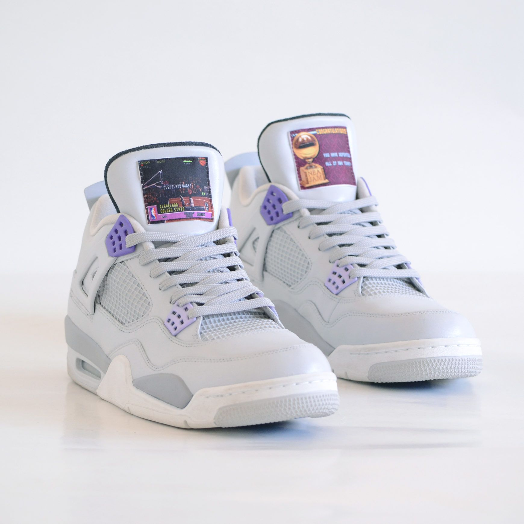 best service fce62 9076a Air Jordan 4 Custom SNES NBA Jam Sneakers
