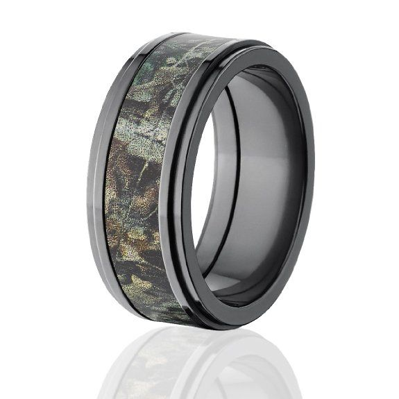 Camouflage mens wedding ring unique mens wedding ring Amazon