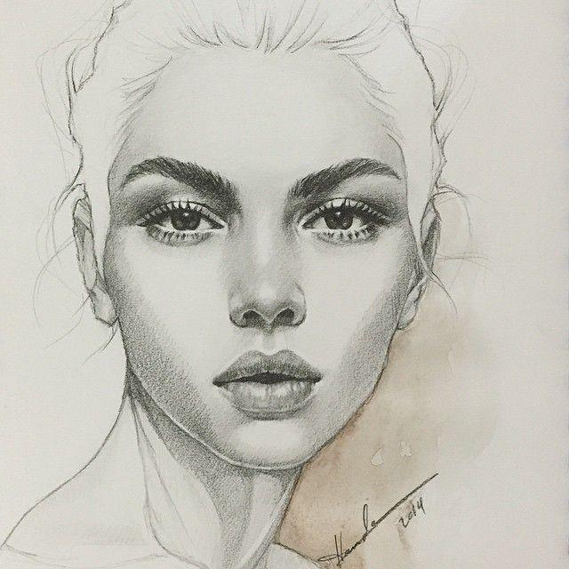 Instagram Post By H A M D A A L M A N N A I U2661 (@hamda.almannai)   Drawings Pencil Portrait And ...