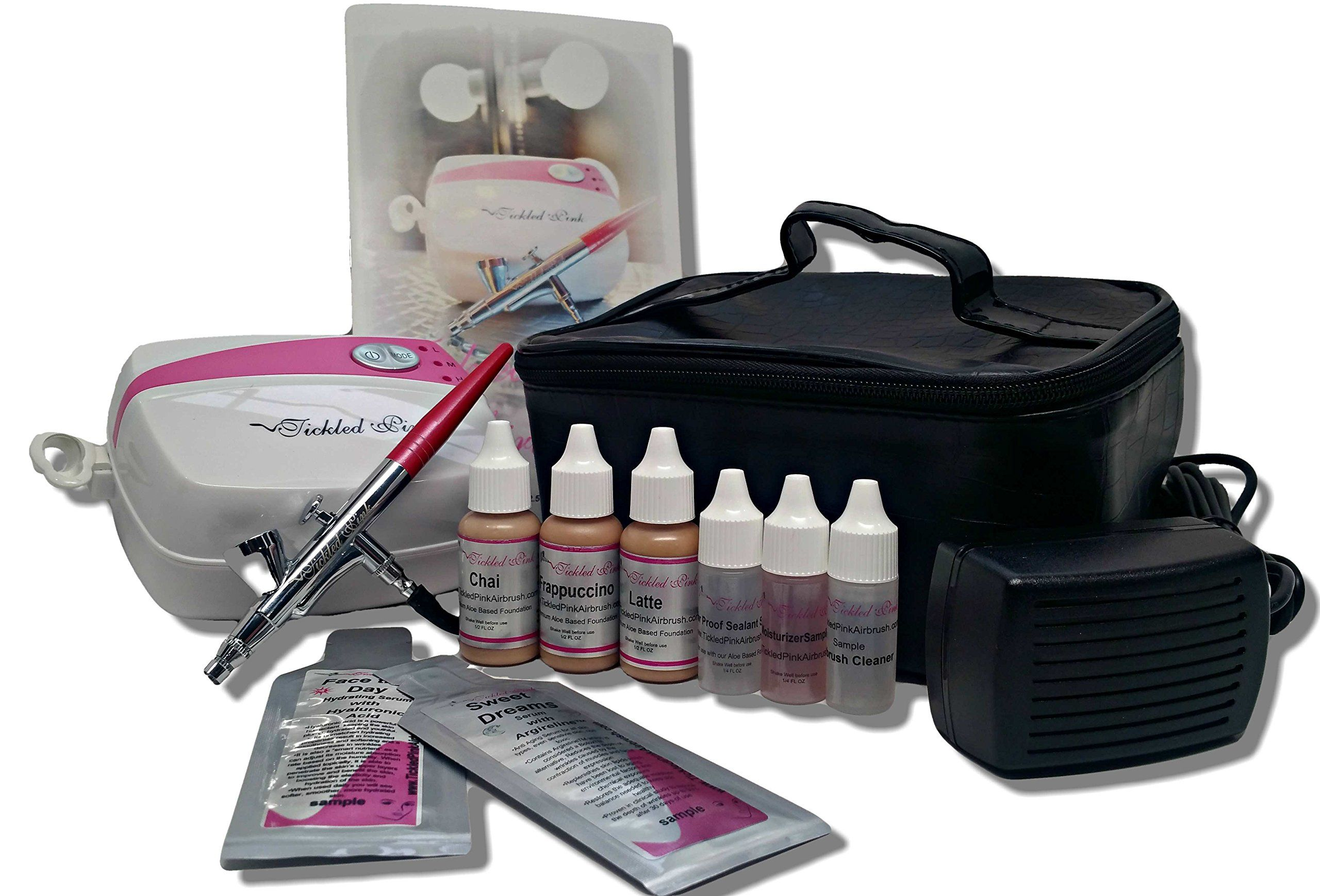 Tickled Pink Airbrush Makeup Kit with AloeBased