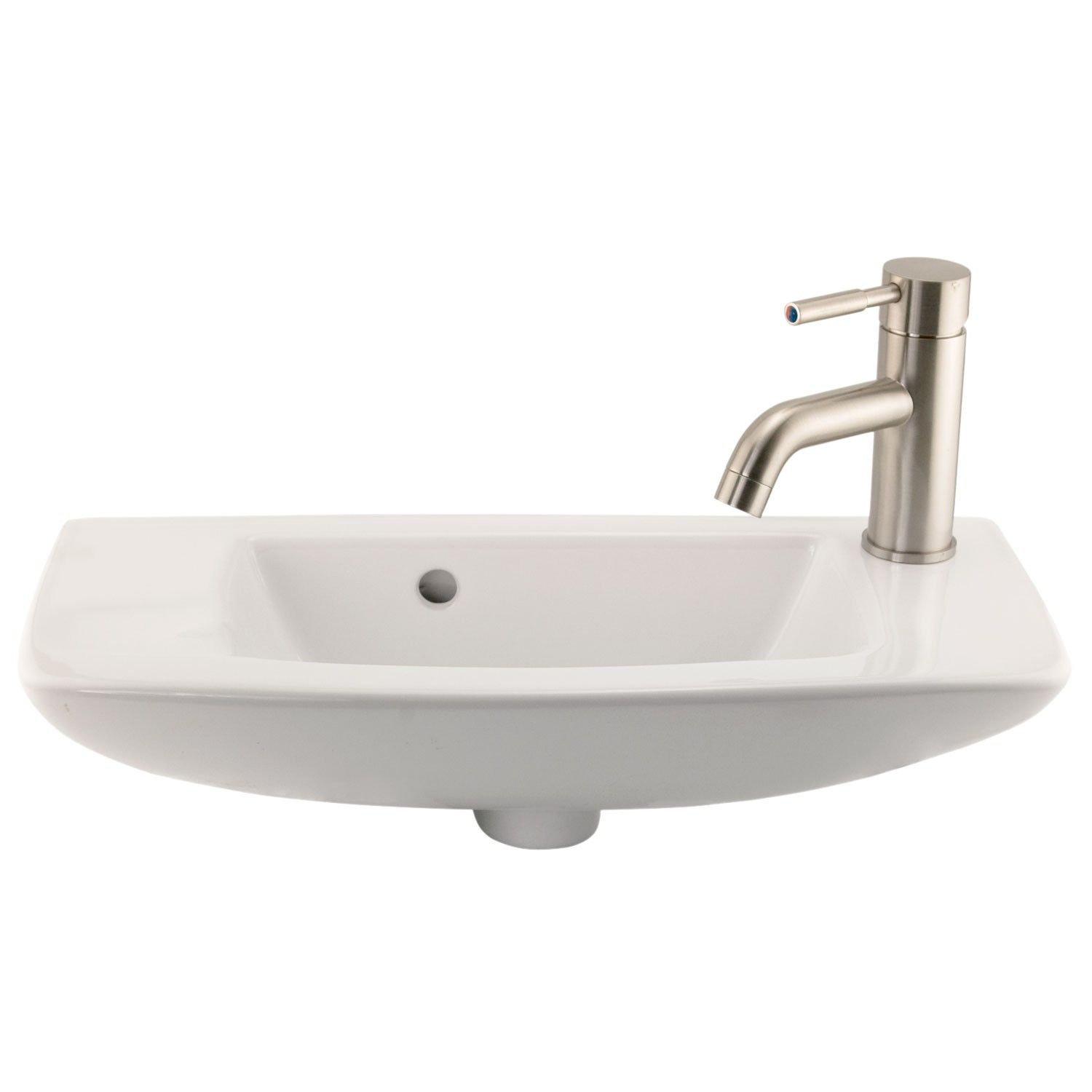 Belvidere Wall Mount Sink Single Faucet Hole On Right Side