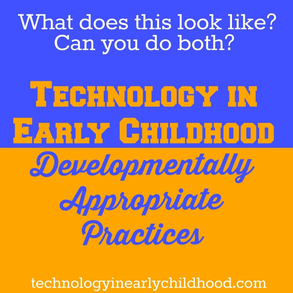 early childhood technology Early childhood setting is a learning process of young children where they develop learning skills in today's society, technology has played a big factor.
