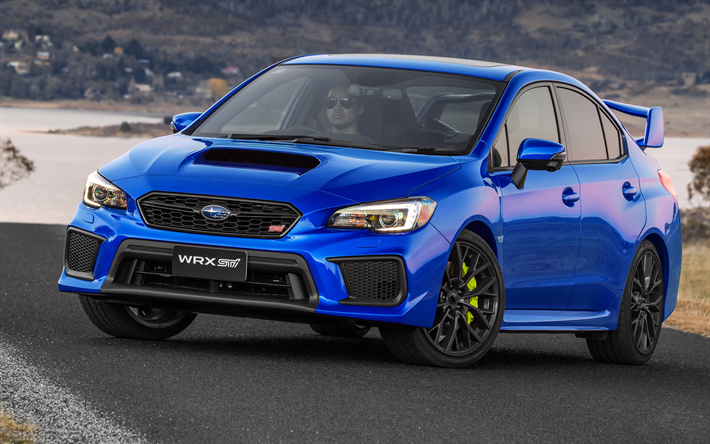 Download Wallpapers Subaru Wrx Sti 2018 Cars Sedans Japanese Cars