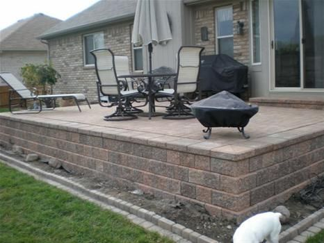 Beautiful Raised Stone Patio Ideas Brick Paver Designs Paver Steps Design Raised  Paver Design Ideas   Appreciate Exterior Living And Create A Relaxing Envi
