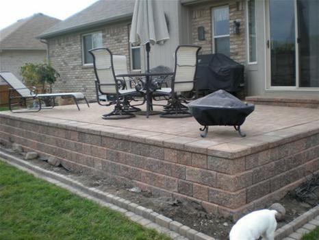 raised patio | Backyard patio, Concrete patio on Raised Concrete Patio Ideas id=50343
